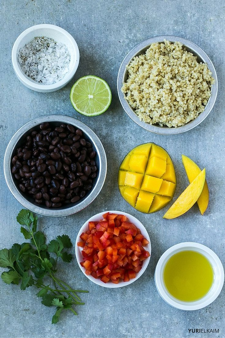 Quinoa and Black Bean Salad Ingredients