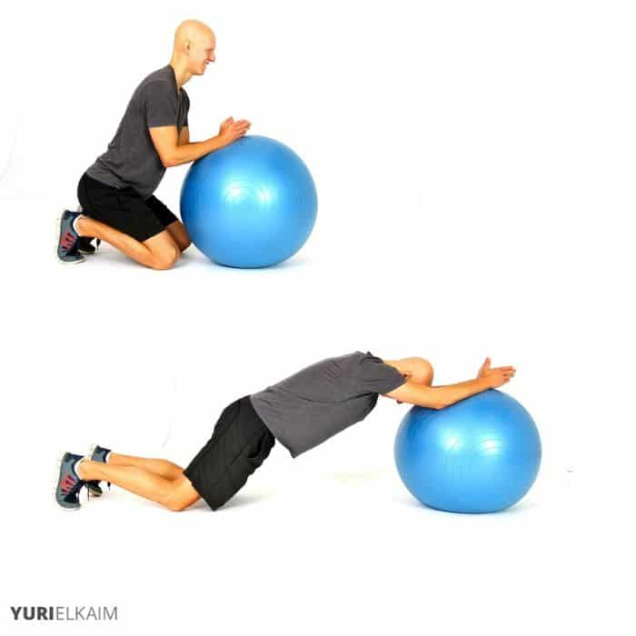 Stability Ball Ab Roll Out Sequence