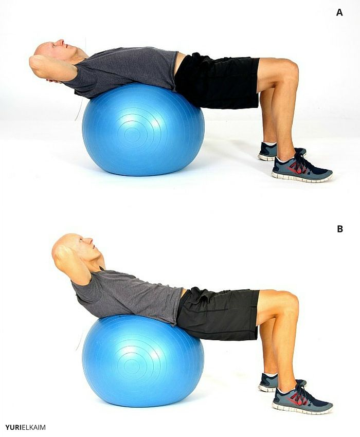 Stability Ball Crunch Sequence