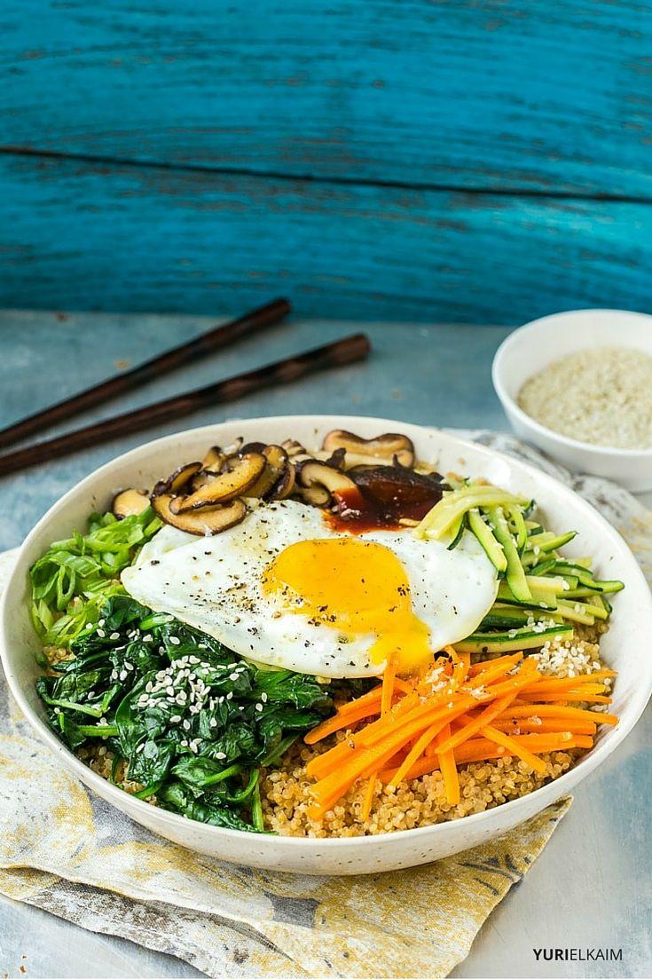 Vegetarian Quinoa Bibimbap
