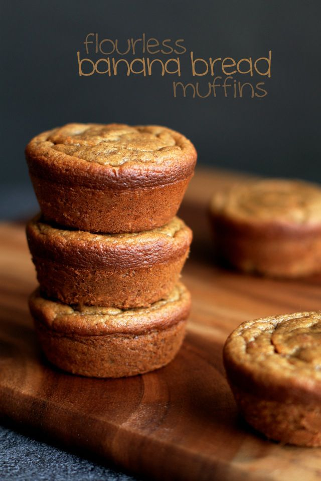 Flourless Banana Bread Muffins via Running with Spoons