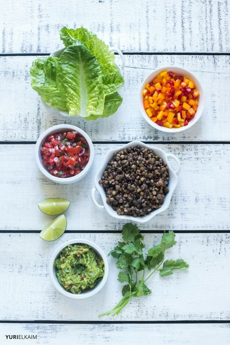 Lentil Tacos Ingredients