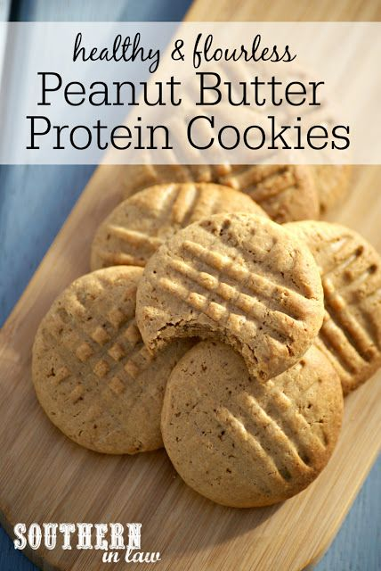 Peanut Butter Protein Cookie Recipe via Southern In Law