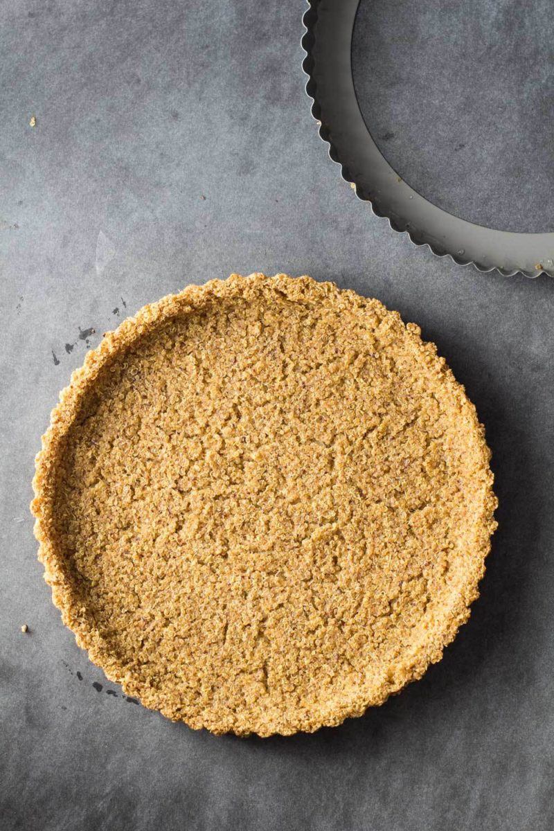 Two-Ingredient Quinoa Crust via Green Healthy Cooking