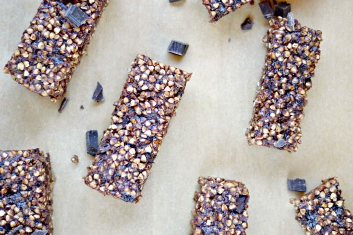 Double Chocolate Buckwheat Granola Bars