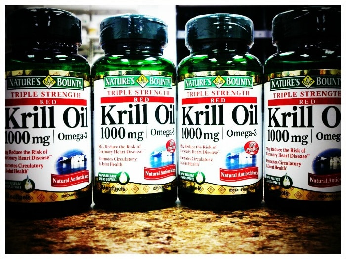 bottles of krill oil
