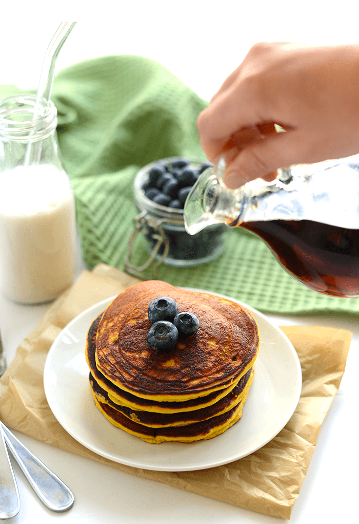 Paleo Coconut Flour Pancakes via Fit Foodie Finds