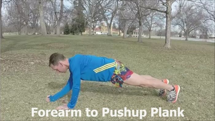 Forearm to Push-up Plank