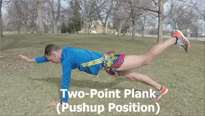Two-Point Push-up Plank
