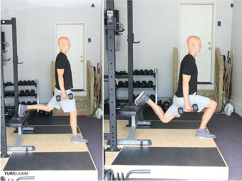 DB Bulgarian Split Squats