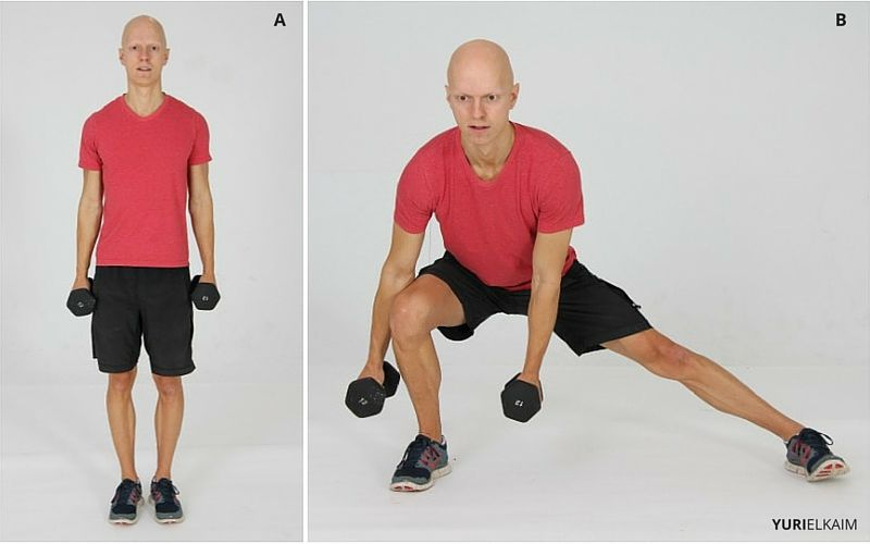 Lateral DB Lunges