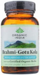 Bottle of Gotu Kola capsules