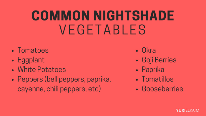 COMMON NIGHTSHADE VEGETABLES