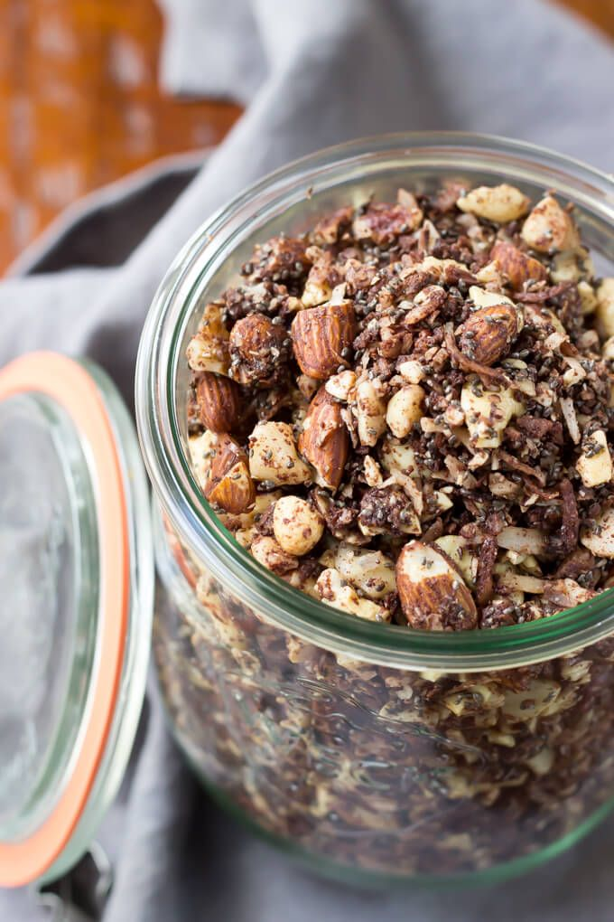 Chocolate Fudge Coconut Granola via Wicked Spatula