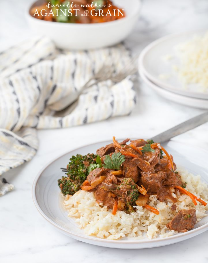 Crockpot Paleo Thai Beef Stew via Against All Grain