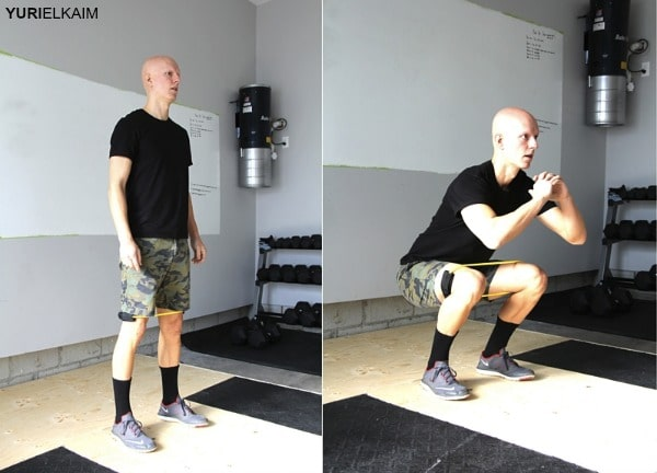 Glute Activation Exercises - Band Resisted Squat