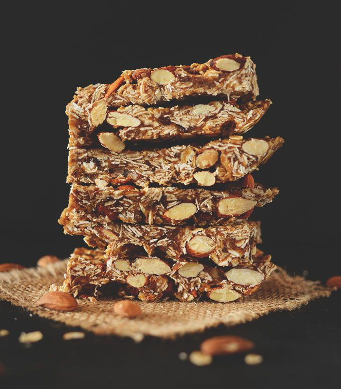 Healthy 5-Ingredient Granola Bars via Minimalist Baker