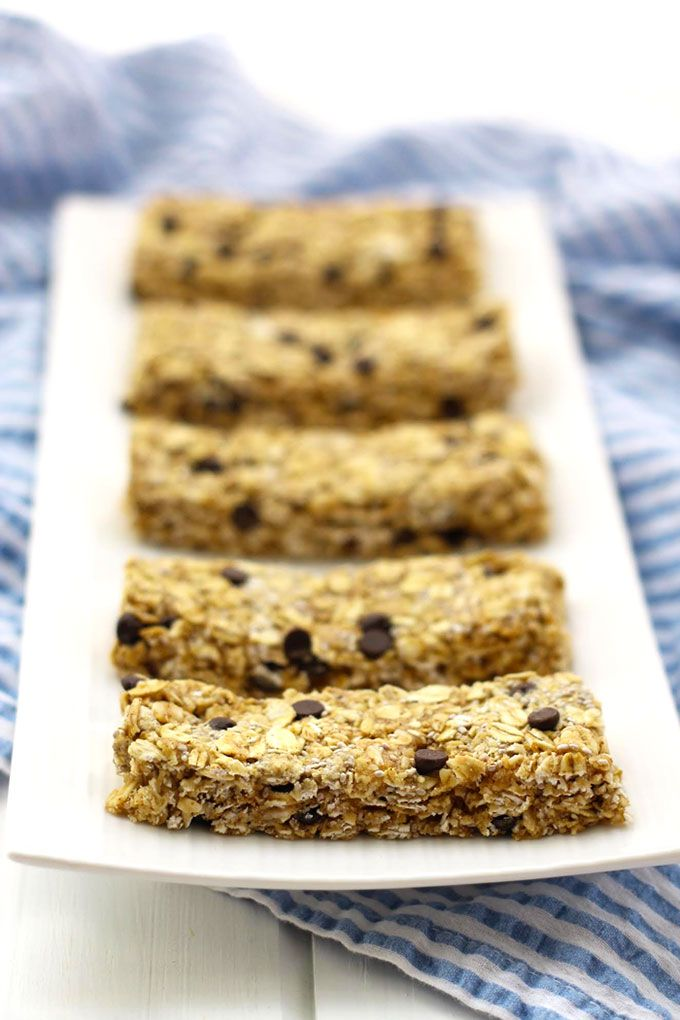 Healthy No-Bake Chocolate Chip Protein Granola Bars via The Healthy Maven