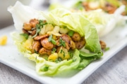 Teriyaki Cashew Lettuce Wraps