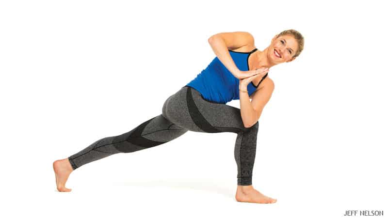 Yoga Poses for Constipation - Crescent Twist