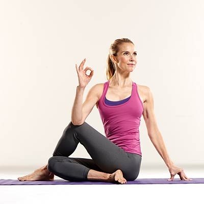 Yoga Poses for Constipation - Seated Twist Pose