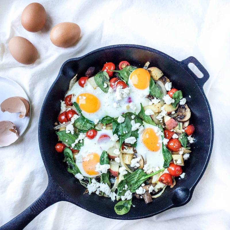 Kitchen Sink Breakfast Skillet via Simply Taylor