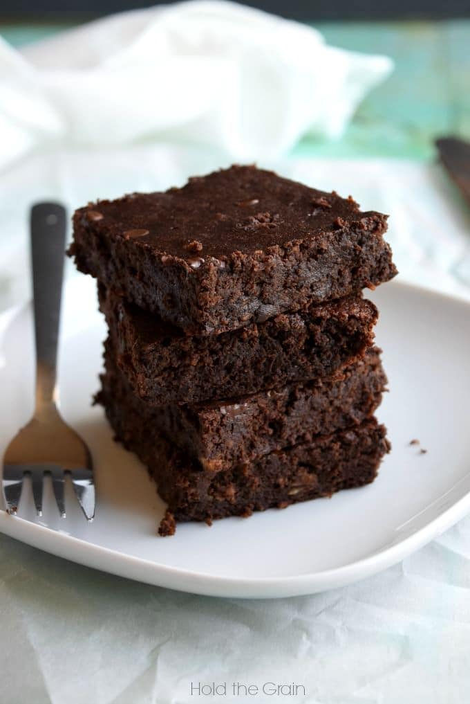 Plantain Fudge Brownies via Hold the Grain