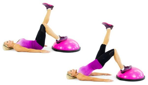 BOSU Ball Ab Exercises - 1-Leg Glute Bridge