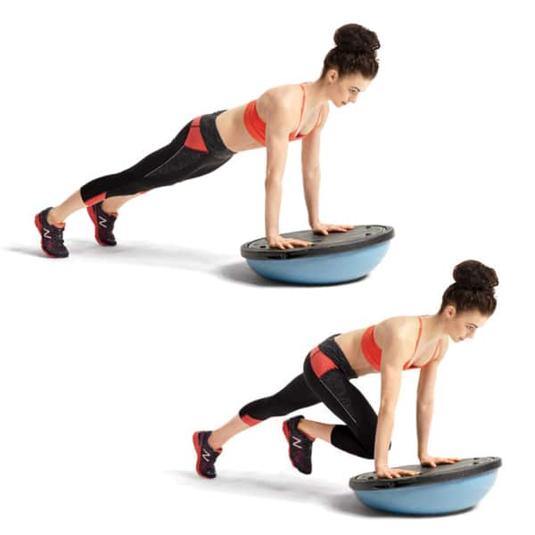 Pilates Chair Mountain Climber: The 13 BOSU Ball Ab Exercises That Are Actually Safe To Do