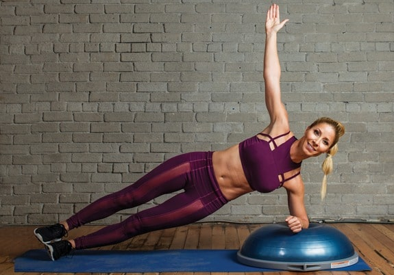 BOSU Ball Ab Exercises - Side Plank