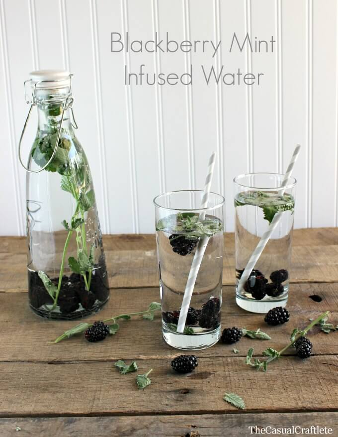 Blackberry Mint Infused Water via The Casual Craftlete