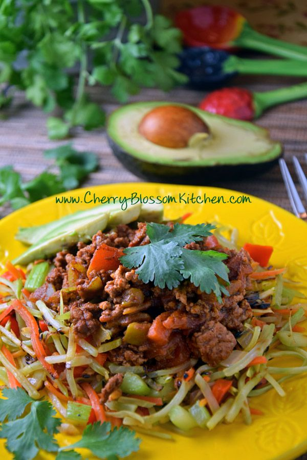 Burrito Bowl, Whole 30, Paleo, and Low Carb via Cherry Blossom Kitchen
