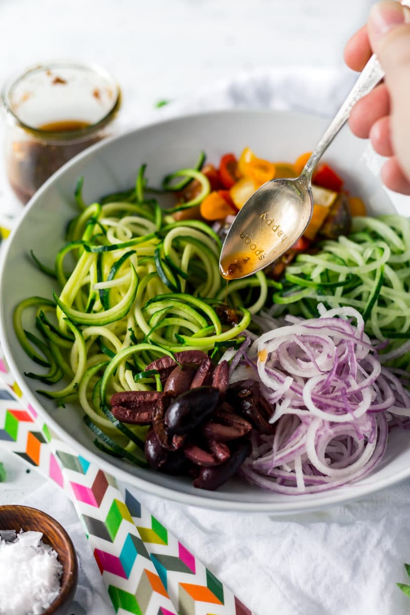 spiralized zucchini salad
