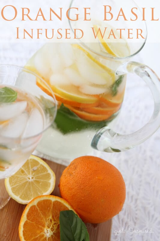 Orange Basil Infused Water via The Girl Inspired