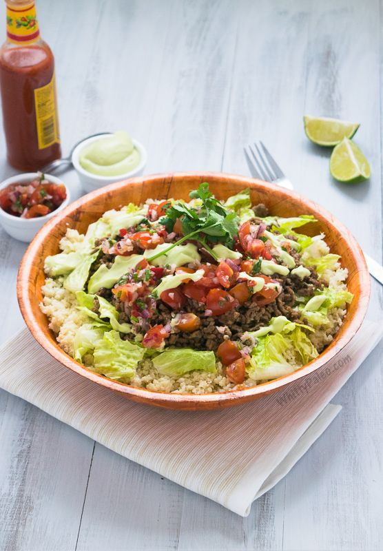 Paleo Easy Mexican Burrito Bowls via Whitty Paleo