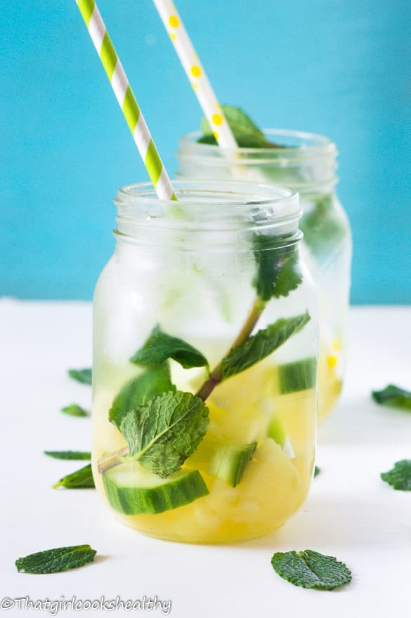 Pineapple Mint Infused Water via That Girl Cooks Healthy