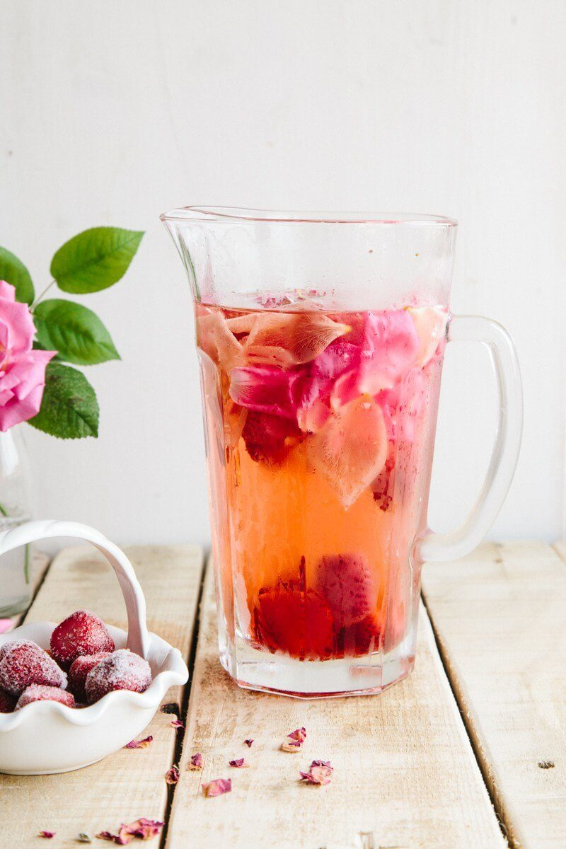 Rose, Lemon & Strawberry Infused Water via Wallflower Kitchen