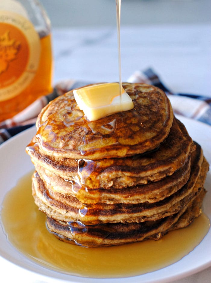 Healthy Harvest Pancakes via Eat Yourself Skinny
