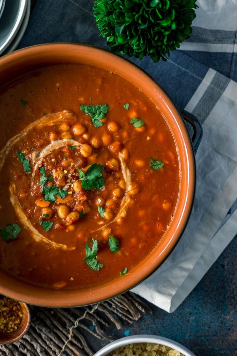 Authentic Moroccan Chickpea Stew Recipe