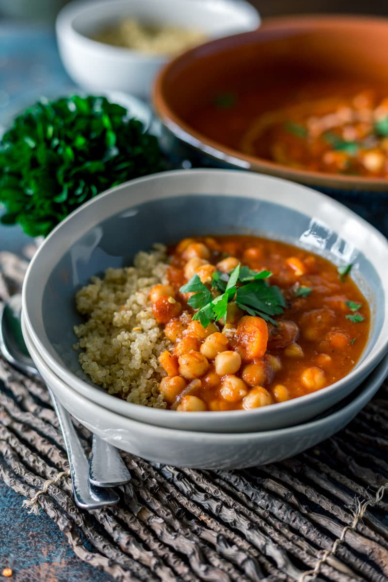 Authentic Moroccan Chickpea Stew