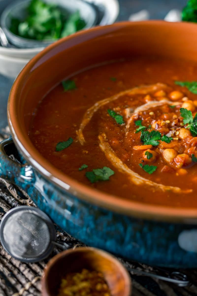 Authentic Moroccan Chickpea Stew with Quinoa