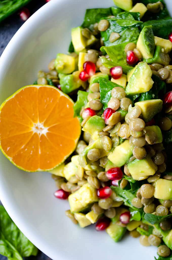 Avocado Lentil Salad via Give Recipe