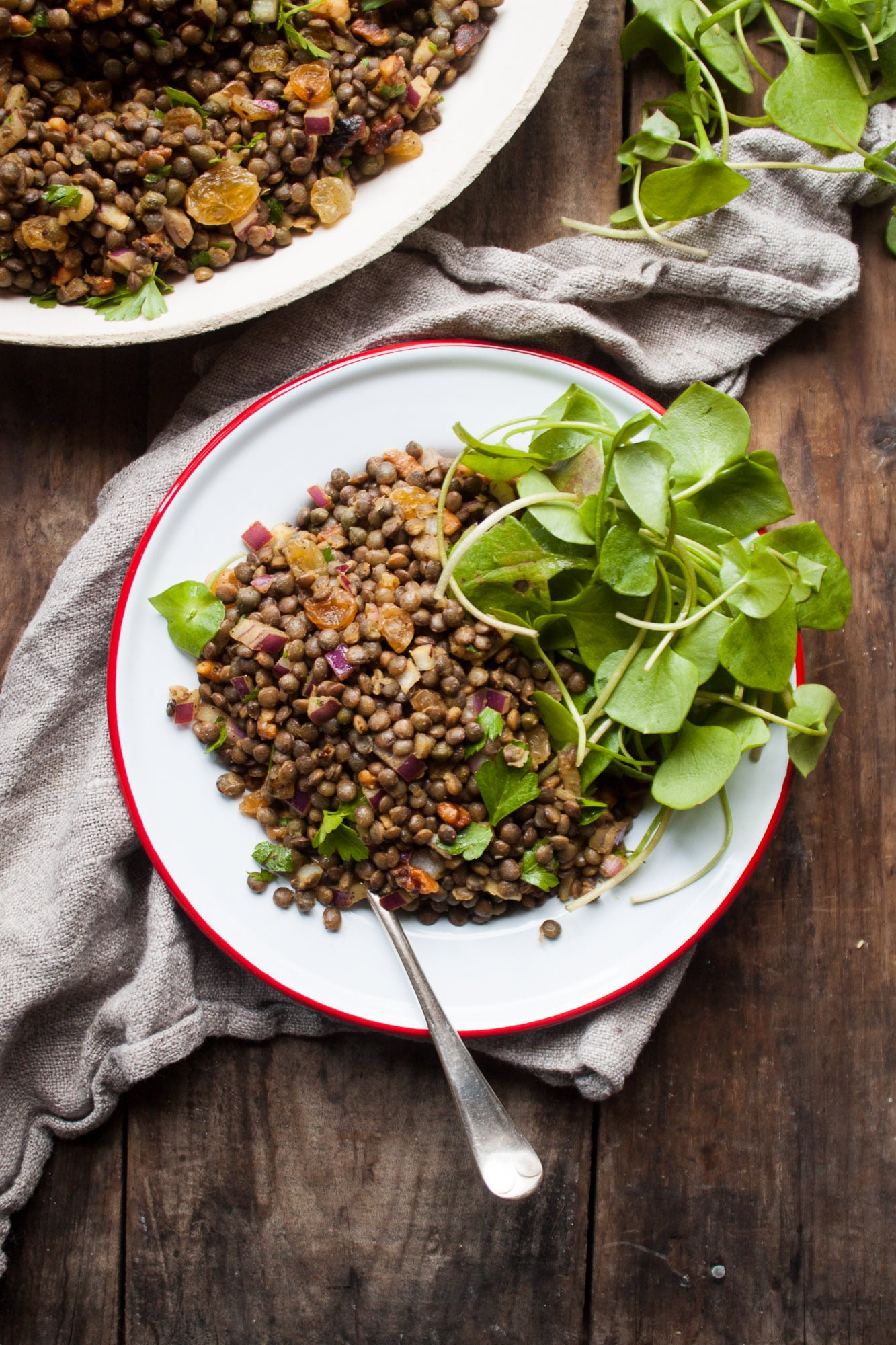 The Best Ever French Lentil Salad via In Pursuit of More