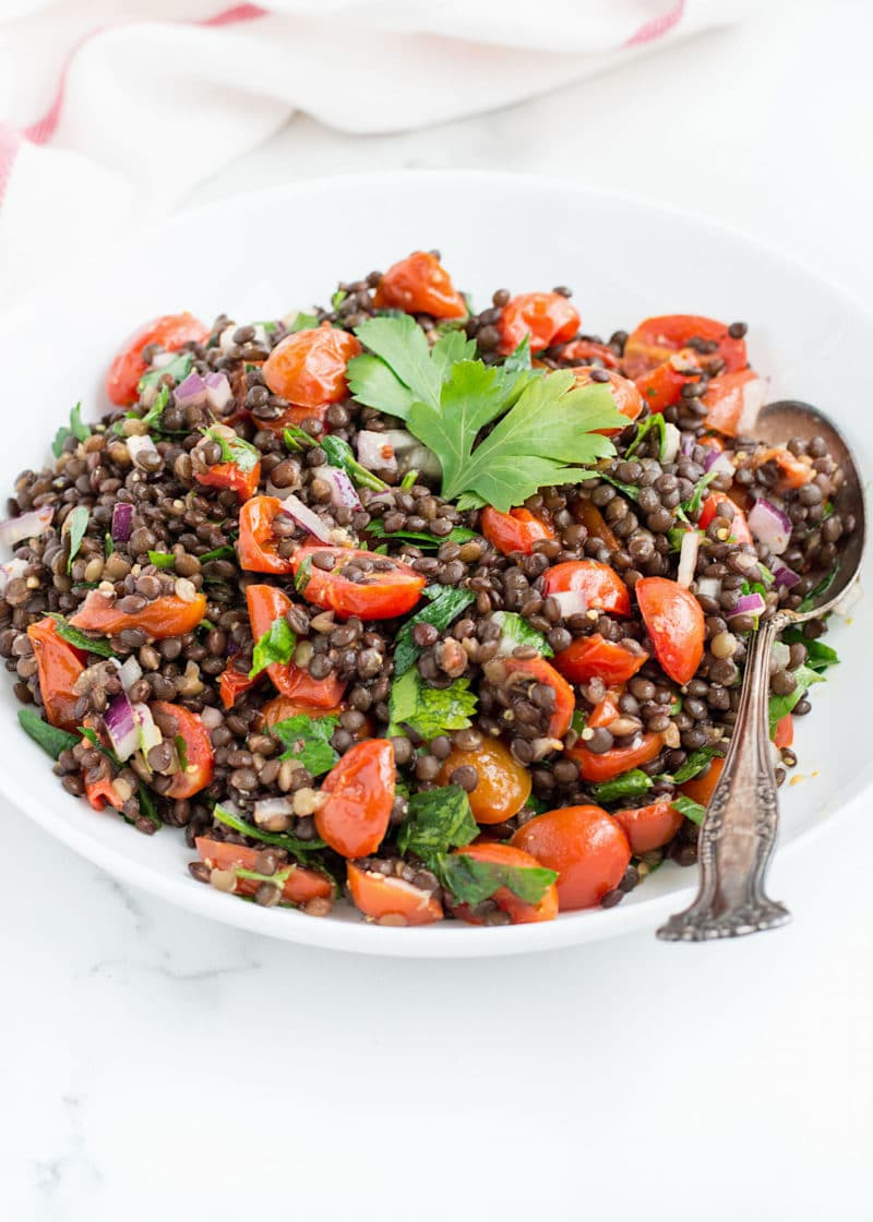 Roasted Tomato Lentil Salad via Nourished the Blog