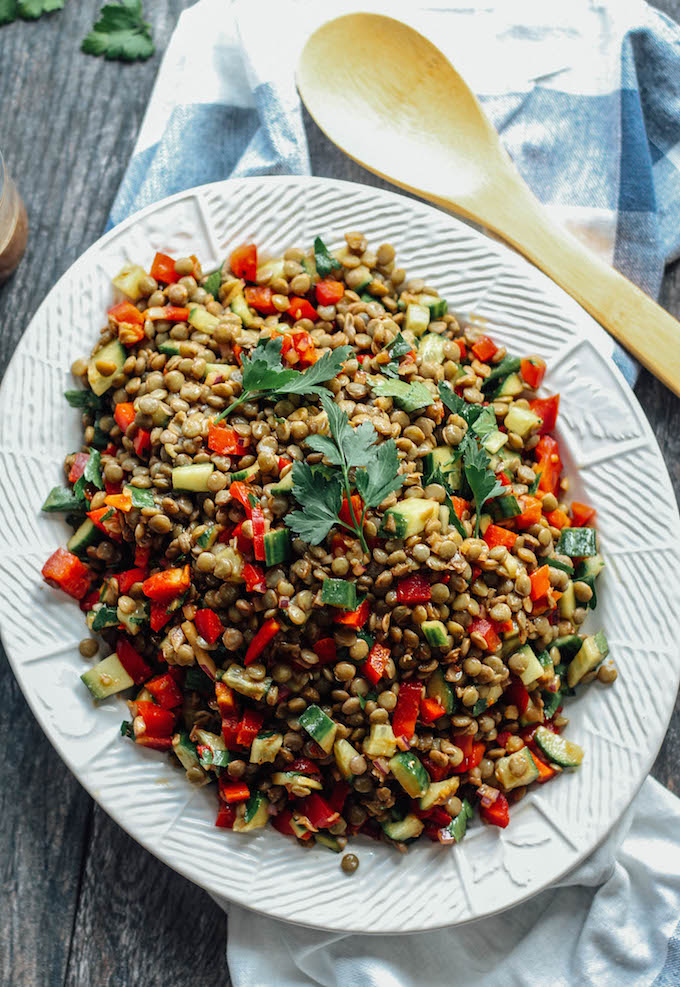 Balsamic Lentil Salad via Destination Delish