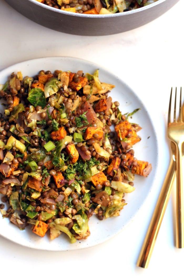 Loaded Lentil Salad via Hummusapien