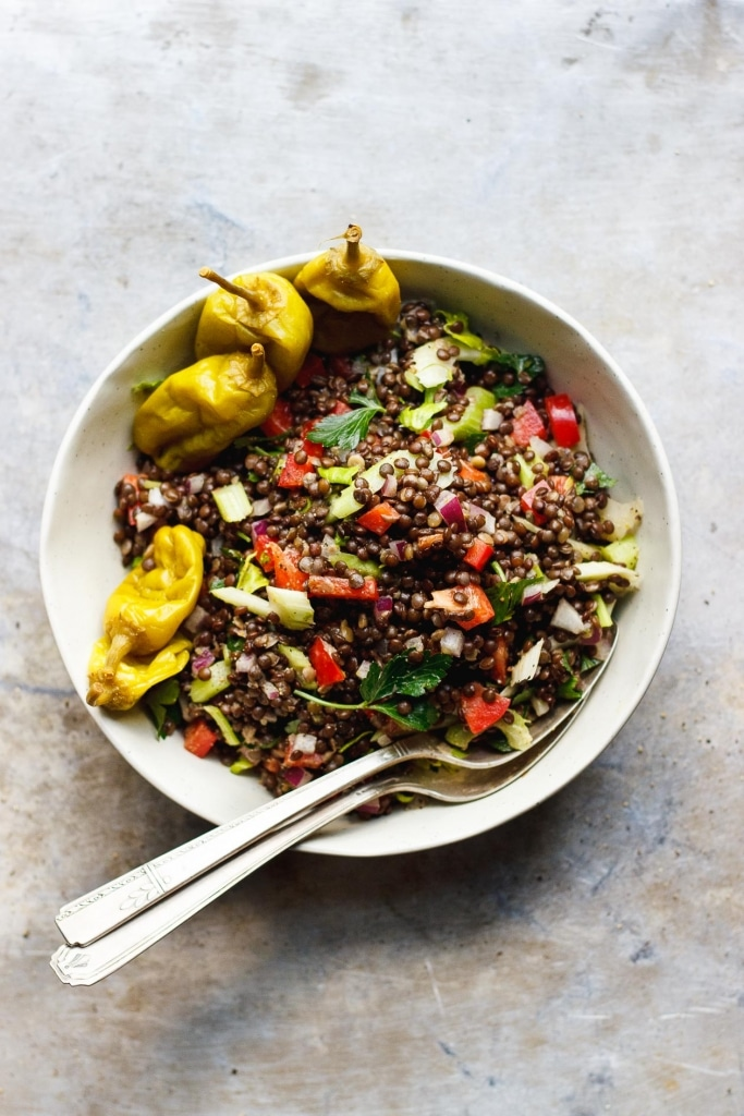 Lentil Crunch Salad via With Food and Love