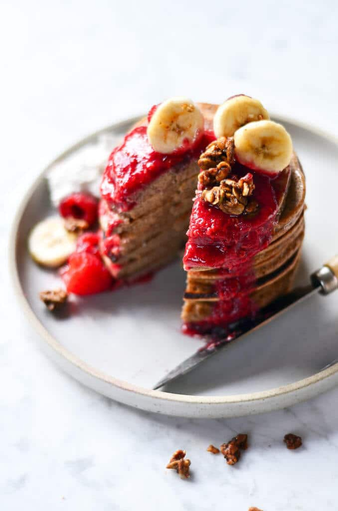 Magic Paleo Blender Banana Pancakes via Paleo Gluten-Free