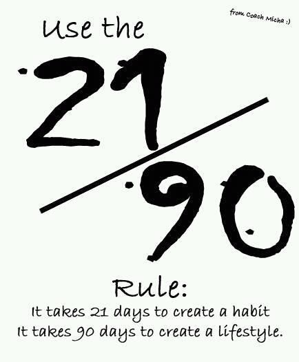 Fitness Quote 11 - 21:90 rule