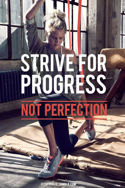 Fitness Quote 12 - Strive for Progress